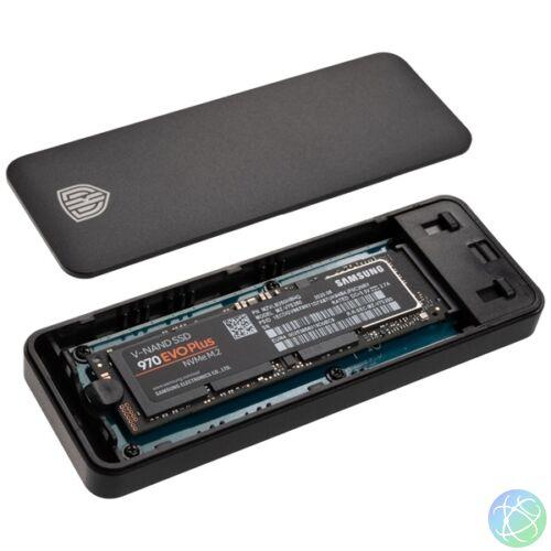 Kolink M.2 NVMe fekete (KO-M2UC31) USB 3.1 Type-C külső SSD ház