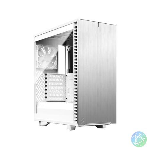 Fractal Design Define 7 Compact Fehér ablakos (Táp nélküli) ATX ház