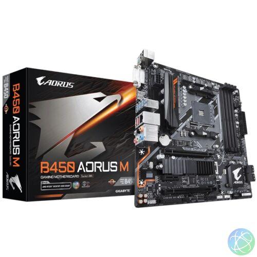 Gigabyte B450-AORUS-M AMD B450 SocketAM4 mATX alaplap
