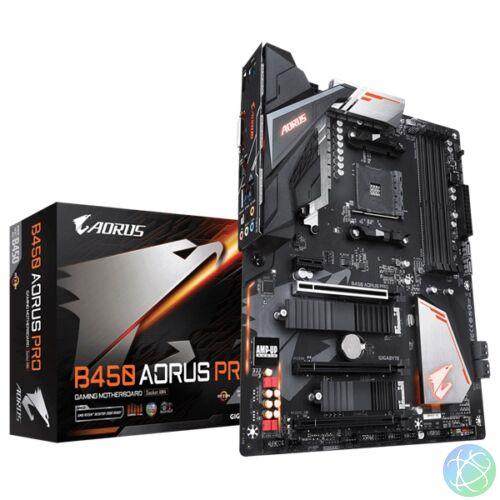 Gigabyte B450-AORUS-PRO AMD B450 SocketAM4 ATX alaplap