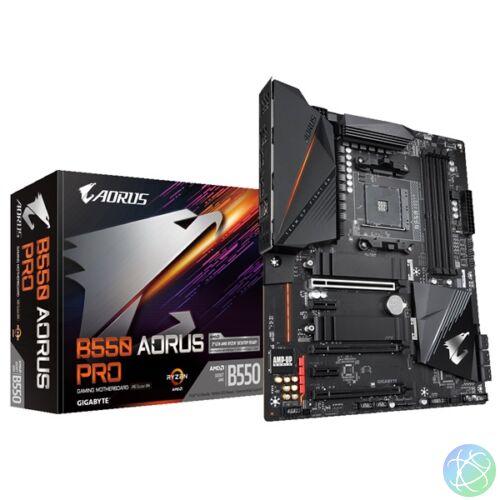 Gigabyte B550-AORUS-PRO AMD B550 SocketAM4 ATX alaplap