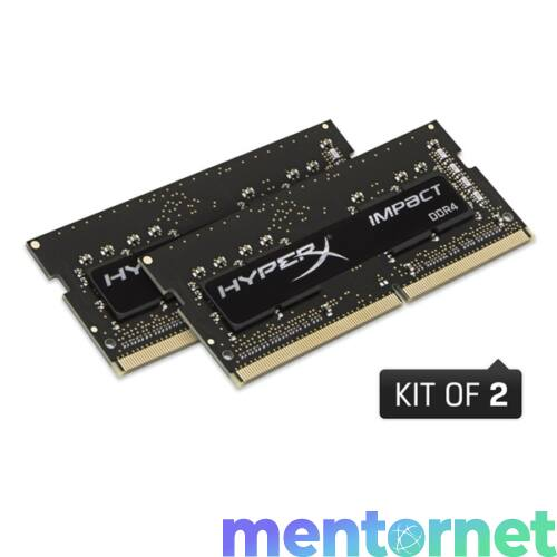 Kingston 16GB/2400MHz DDR-4 HyperX Impact (Kit 2 db 8GB) (HX424S14IB2K2/16) notebook memória