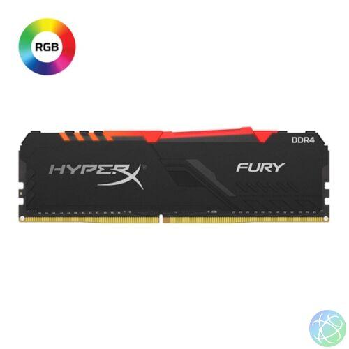 Kingston 8GB/3000MHz DDR-4 1Rx8 HyperX FURY RGB (HX430C15FB3A/8) memória