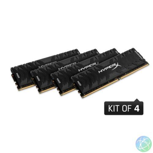 Kingston 128GB/3200MHz DDR-4 HyperX Predator XMP (Kit! 4db 32GB) (HX432C16PB3K4/128) memória