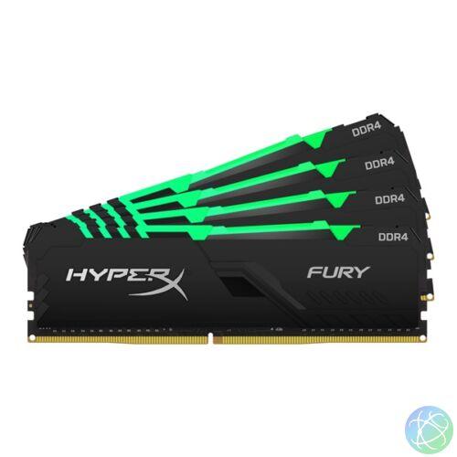 Kingston 64GB/3600MHz DDR-4 HyperX FURY RGB (Kit 4db 16GB) (HX436C18FB4AK4/64) memória