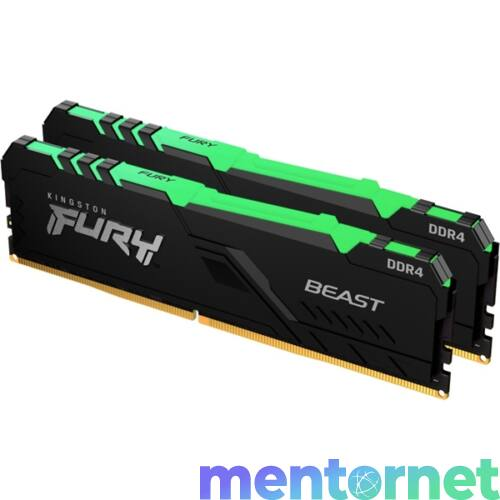 Kingston 16GB/3200MHz DDR-4 (Kit of 2) FURY Beast RGB (KF432C16BBAK2/16) memória