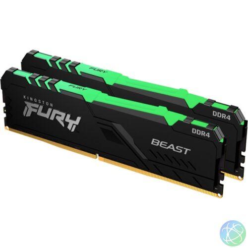 Kingston 32GB/3200MHz DDR-4 (Kit of 2) 1Gx8 FURY Beast RGB (KF432C16BB1AK2/32) memória