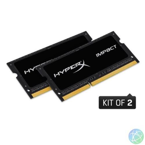 Kingston 16GB/1600MHz DDR-3 HyperX Impact Black 1,35V (Kit! 2db 8GB) (HX316LS9IBK2/16) notebook memória