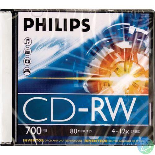 Philips CD-RW80 12x újraírható CD lemez