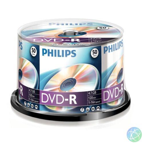 Philips DVD-R 4,7 Gb Írható DVD 50db/henger