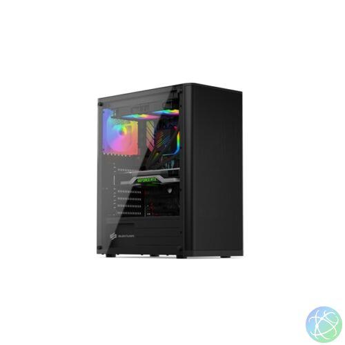 SilentiumPC Ventum VT2 TG ARGB Fekete (Táp nélküli) ablakos ATX ház