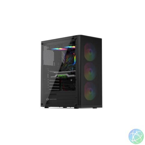 SilentiumPC Ventum VT2 EVO TG ARGB Fekete (Táp nélküli) ablakos ATX ház