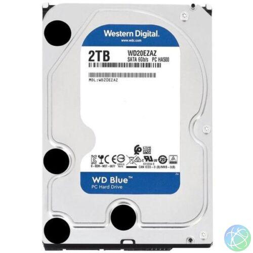 """Western Digital 3,5"""" 2000GB belső SATAIII 5400RPM 256MB Blue advanced format WD20EZAZ winchester"""